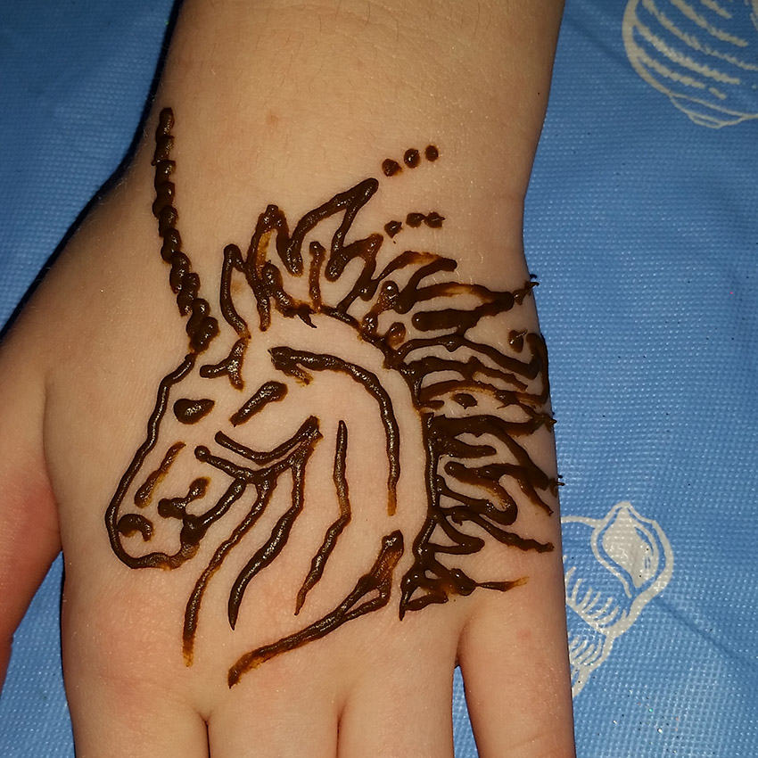 Unicorn henna