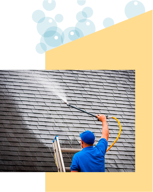 man-administering-roof-cleaning-service