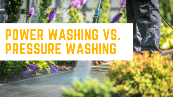 Power Washing Vs. Pressure Washing Featured Image