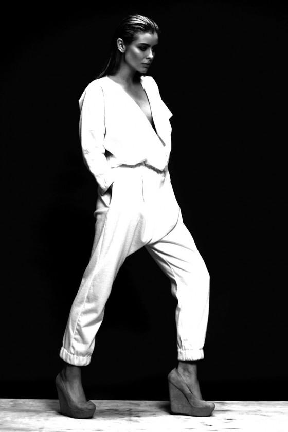 Gabija Varnaite white suit