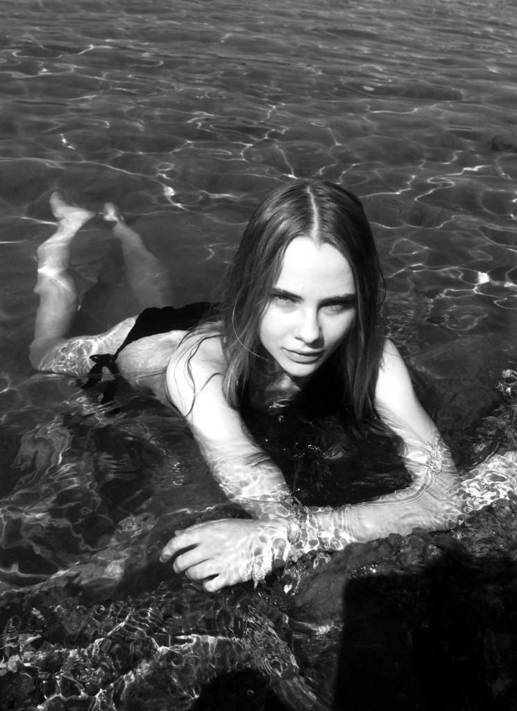 Lidia Vidrenko bikini black white model