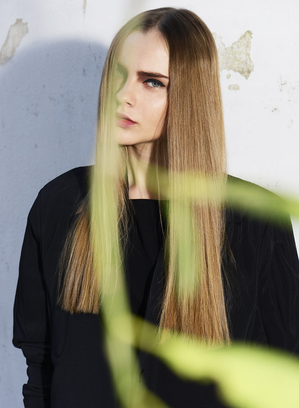 Lidia Vidrenko + model + hair