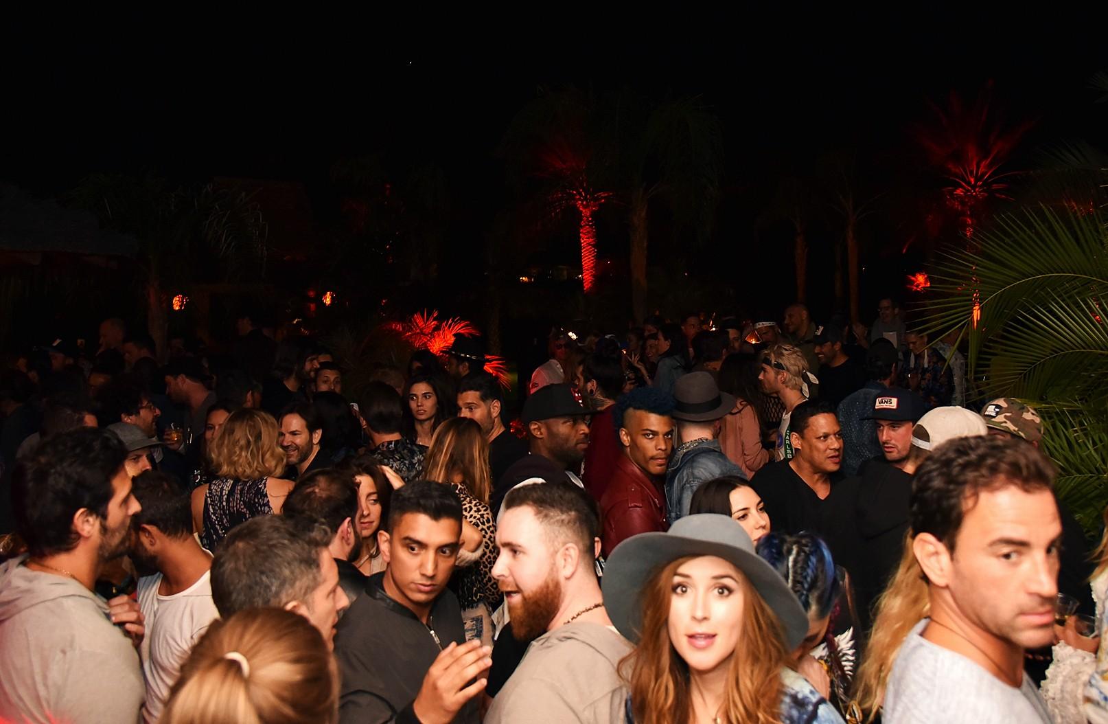 Bob Zangrillo party, Coachella, crowd