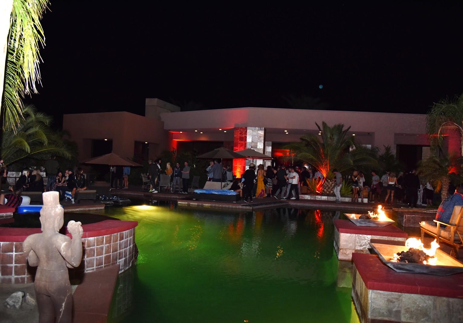 Bob Zangrillo party, Coachella, poolside
