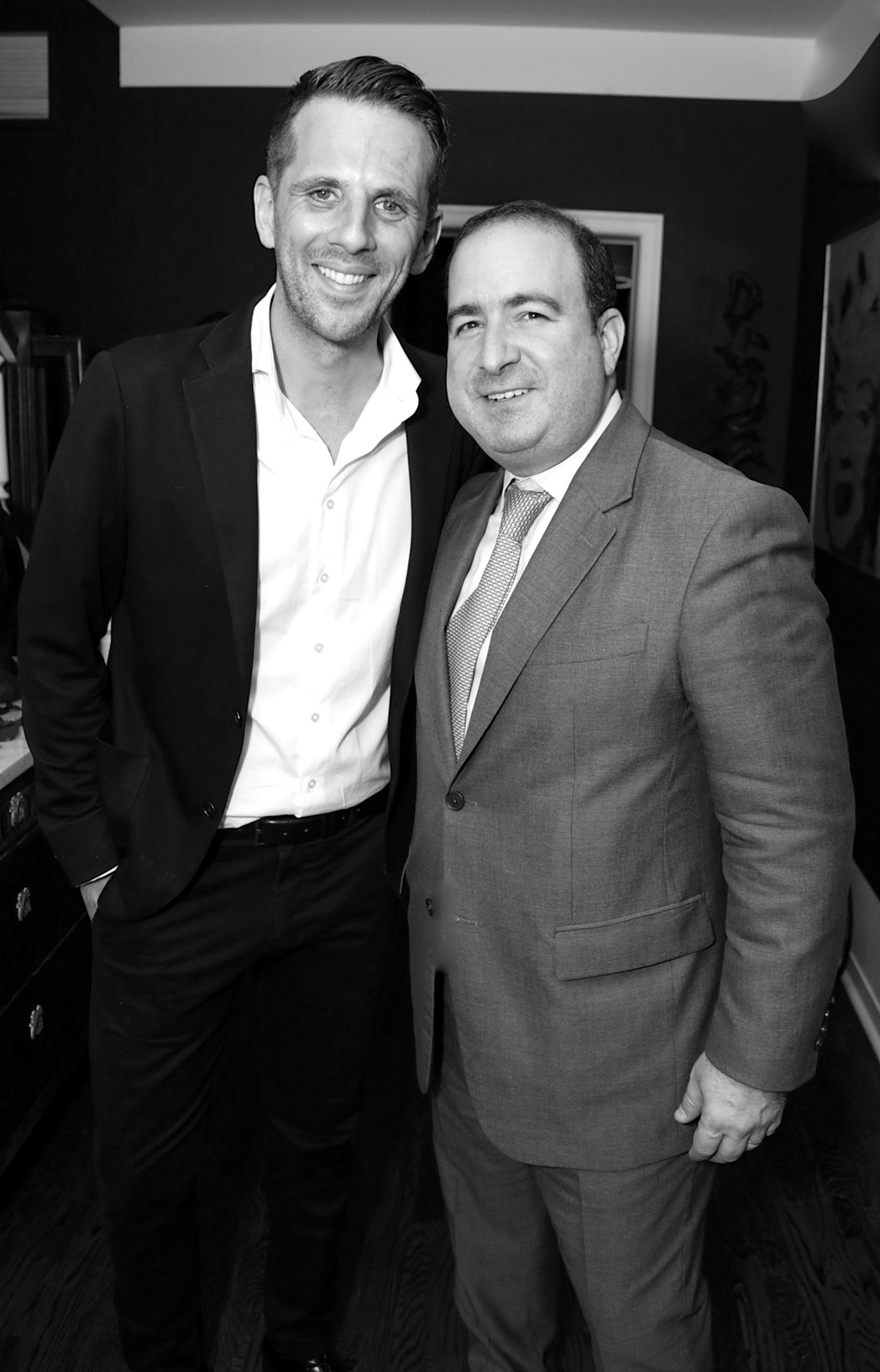 Gregoire Vogelsang, Steven Perelman==Cube Art Fair Intimate New York Party==Private Residence, NYC==September 1, 2016==©Patrick McMullan==Photo - Victor Hugo/PMC== == Gregoire Vogelsang; Steven Perelman