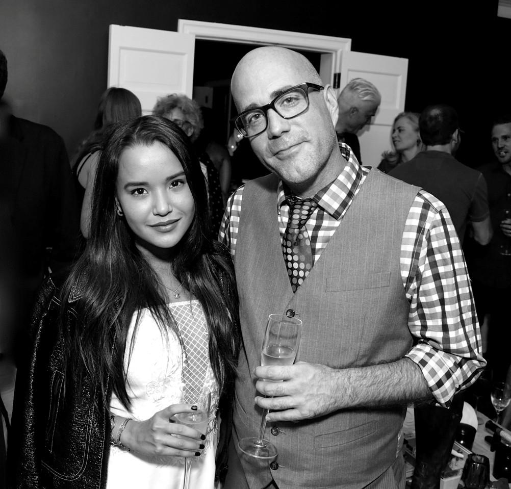 Rijka Negret, Gregg Emery==Cube Art Fair Intimate New York Party==Private Residence, NYC==September 1, 2016==©Patrick McMullan==Photo - Victor Hugo/PMC== == Rijka Negret; Gregg Emery
