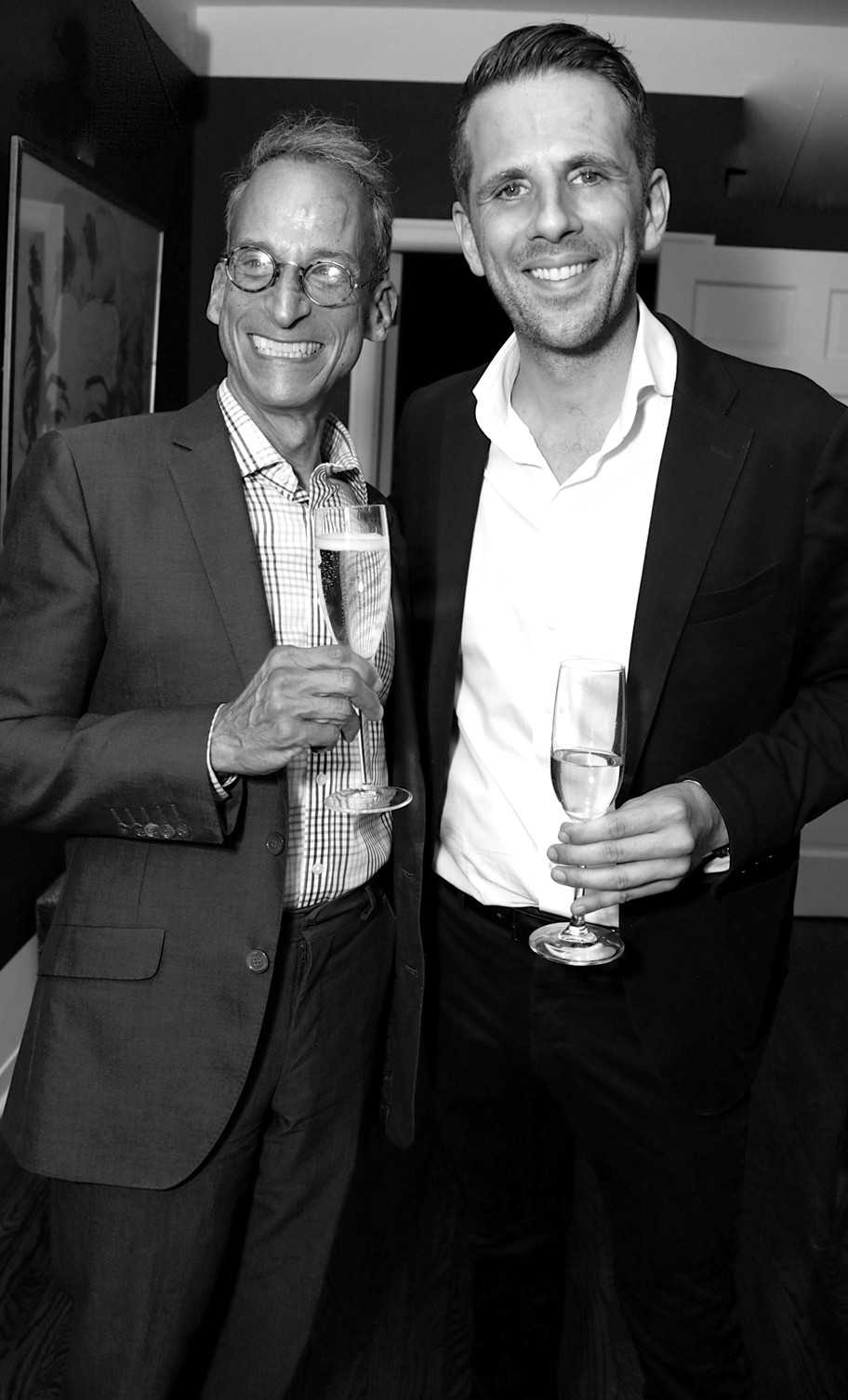 Rob Levy, Gregoire Vogelsang==Cube Art Fair Intimate New York Party==Private Residence, NYC==September 1, 2016==©Patrick McMullan==Photo - Victor Hugo/PMC== == Rob Levy; Gregoire Vogelsang