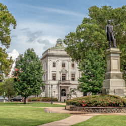 The lovely and peaceful Lafayette Square in New Orleans, Louisiana