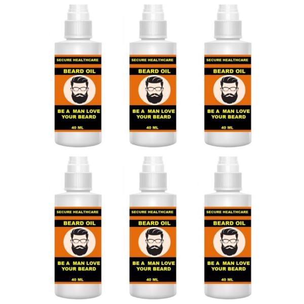 Secure healthcare Beard oil (Pack of 6)