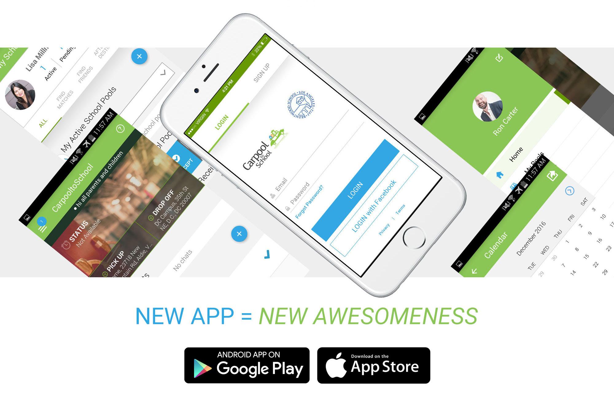 CarpooltoSchool Mobile App