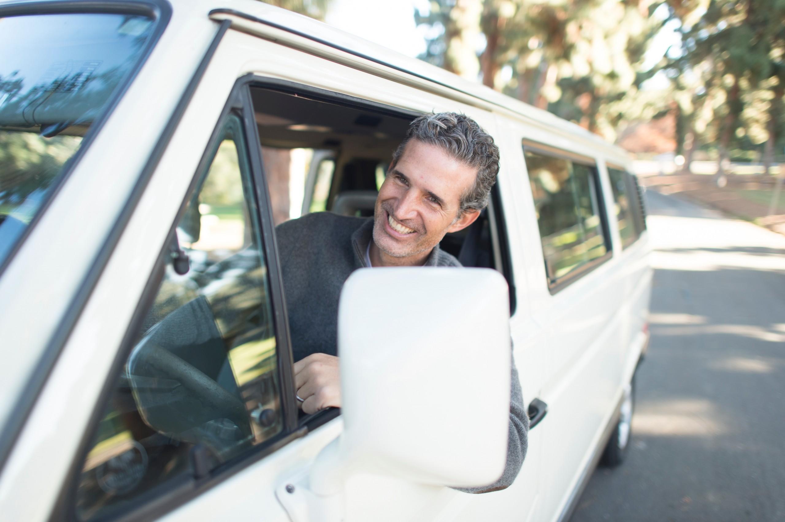 Stress-free parent who carpools
