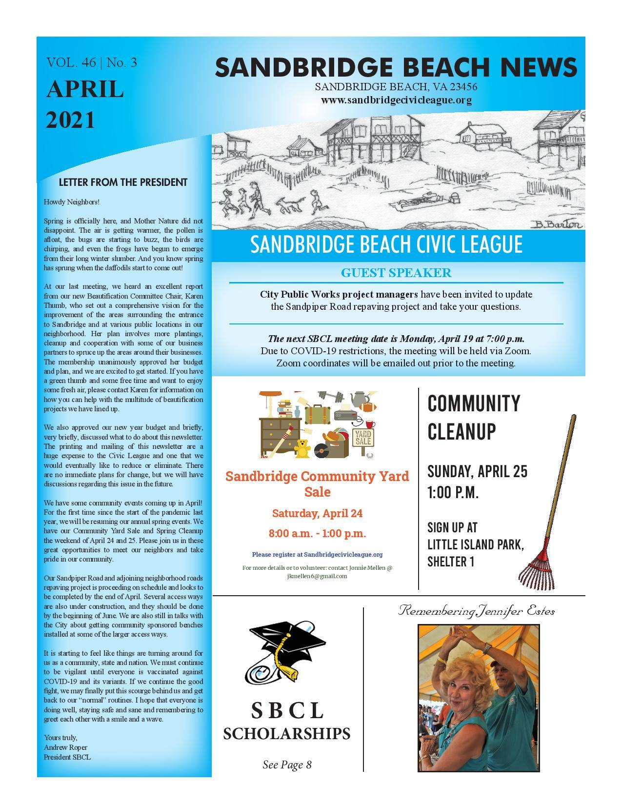SBCL Newsletter April 2021