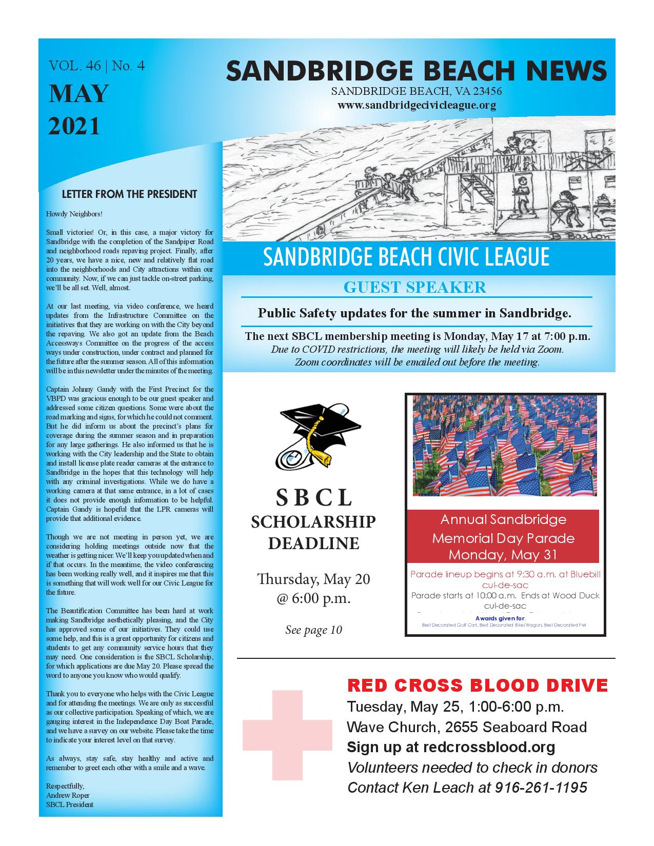 SBCL Newsletter May 2021