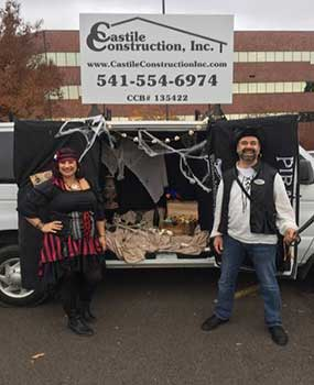 Family Volunteering with Eugene Remodeling Contractor