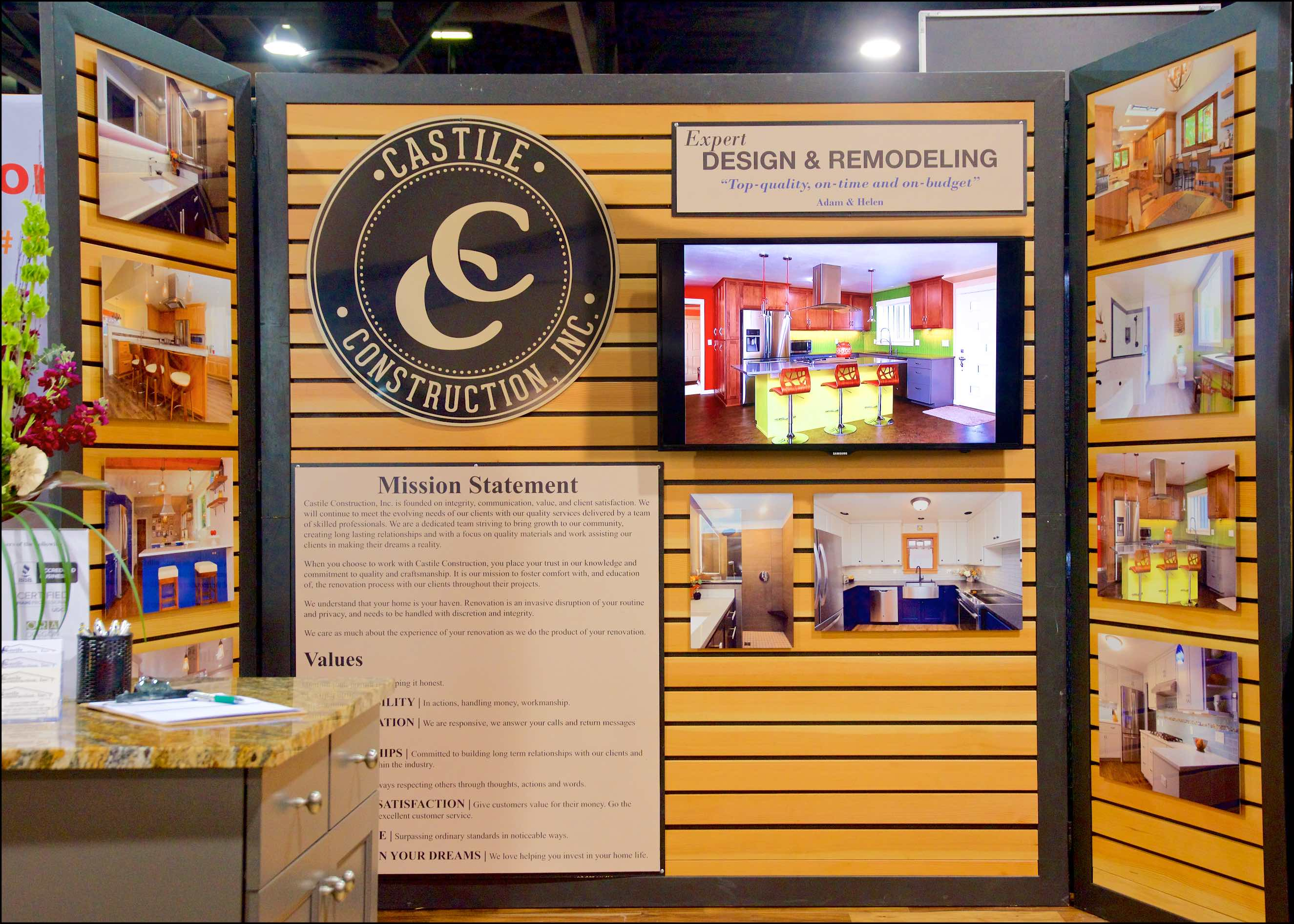 Castile is so proud to display these fabulous kitchen and bathroom remodels