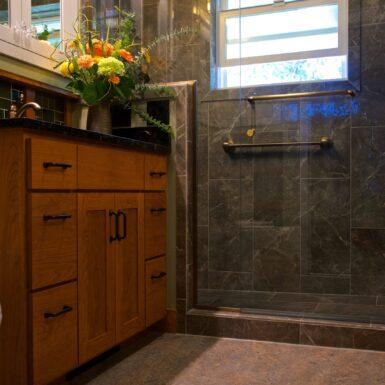 Junction City Bathroom Remodeler Marmoleum flooring