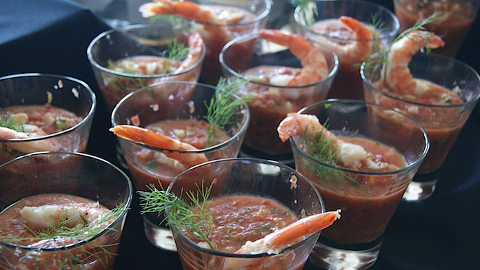 Gazpacho with Fresh Crabmeat or Shrimp