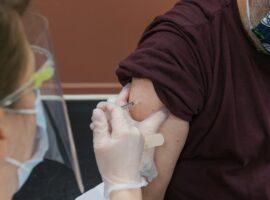 COVID-19 Vaccine in arm