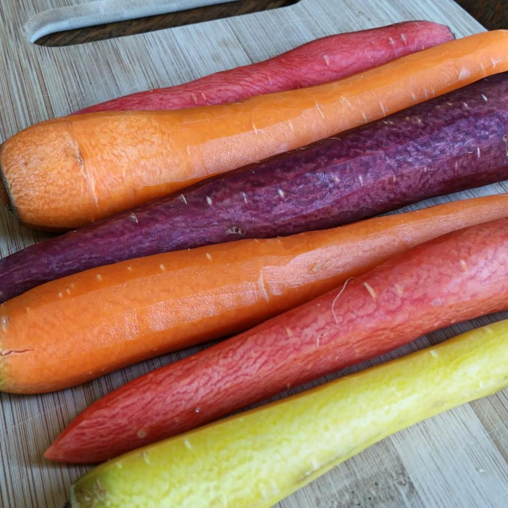 Rainbow Carrots - Roasted Brussels & Carrots - Clovers & Kale