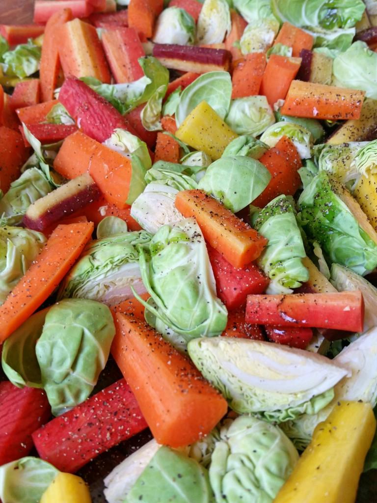 Seasoned Brussels Sprouts & Carrots - Roasted Brussels & Carrots Recipe - Clovers & Kale