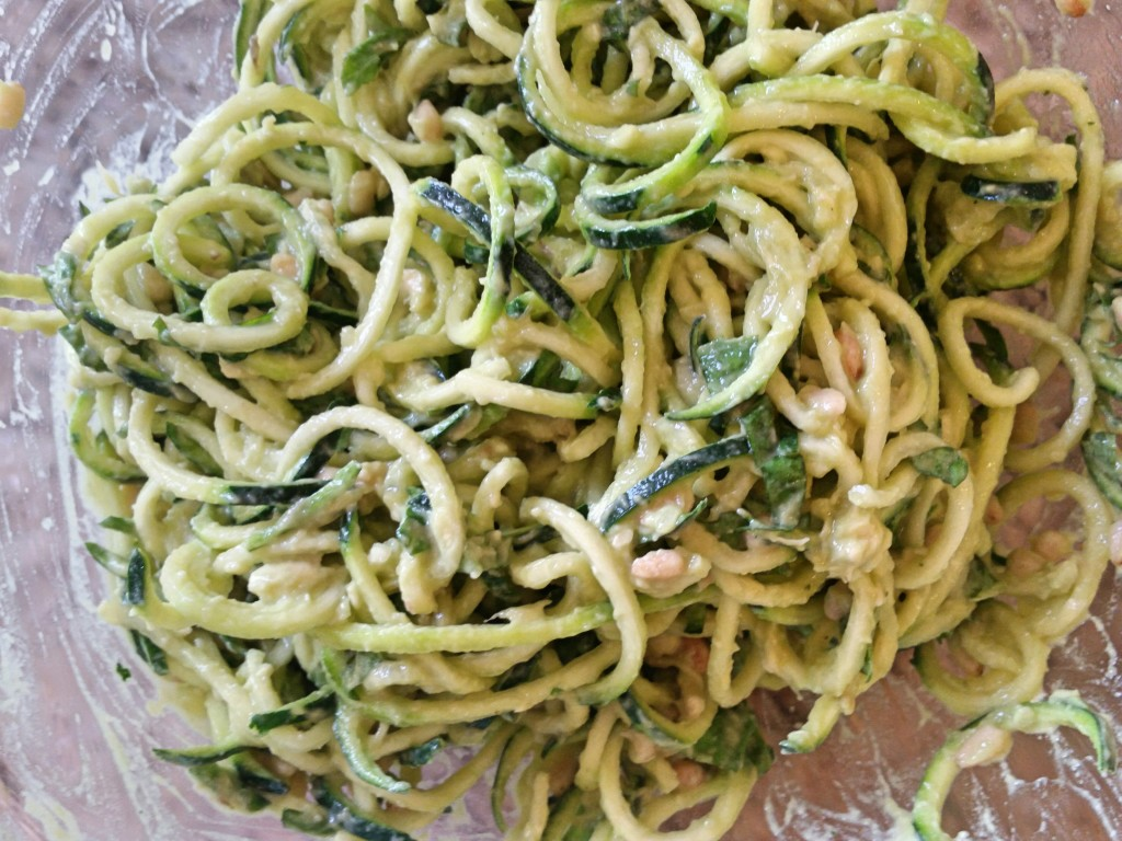 Creamy Avocado Pesto + Zucchini Noodles   Clovers & Kale   Dairy Free Creamy
