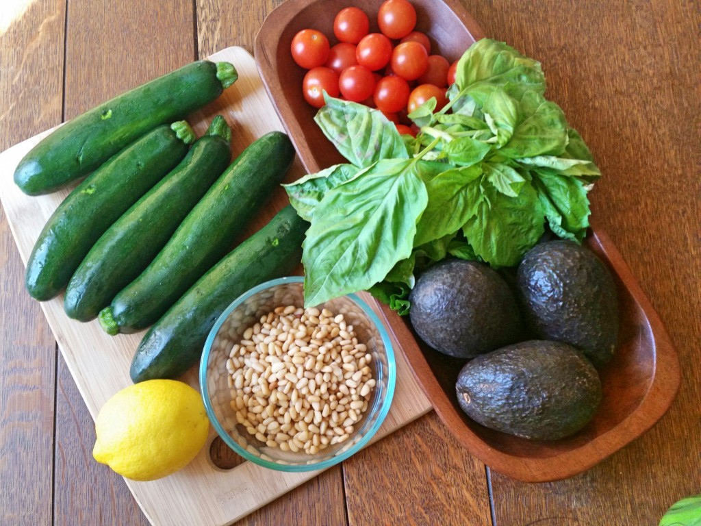 Creamy Avocado Pesto + Zucchini Noodles   Clovers & Kale   Ingredients