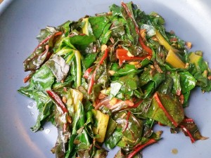 Spicy Ginger & Jalepeno Swiss Chard Recipe - Clovers & Kale