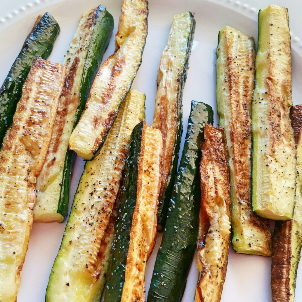 Oven Roasted Zucchini - Clovers & Kale