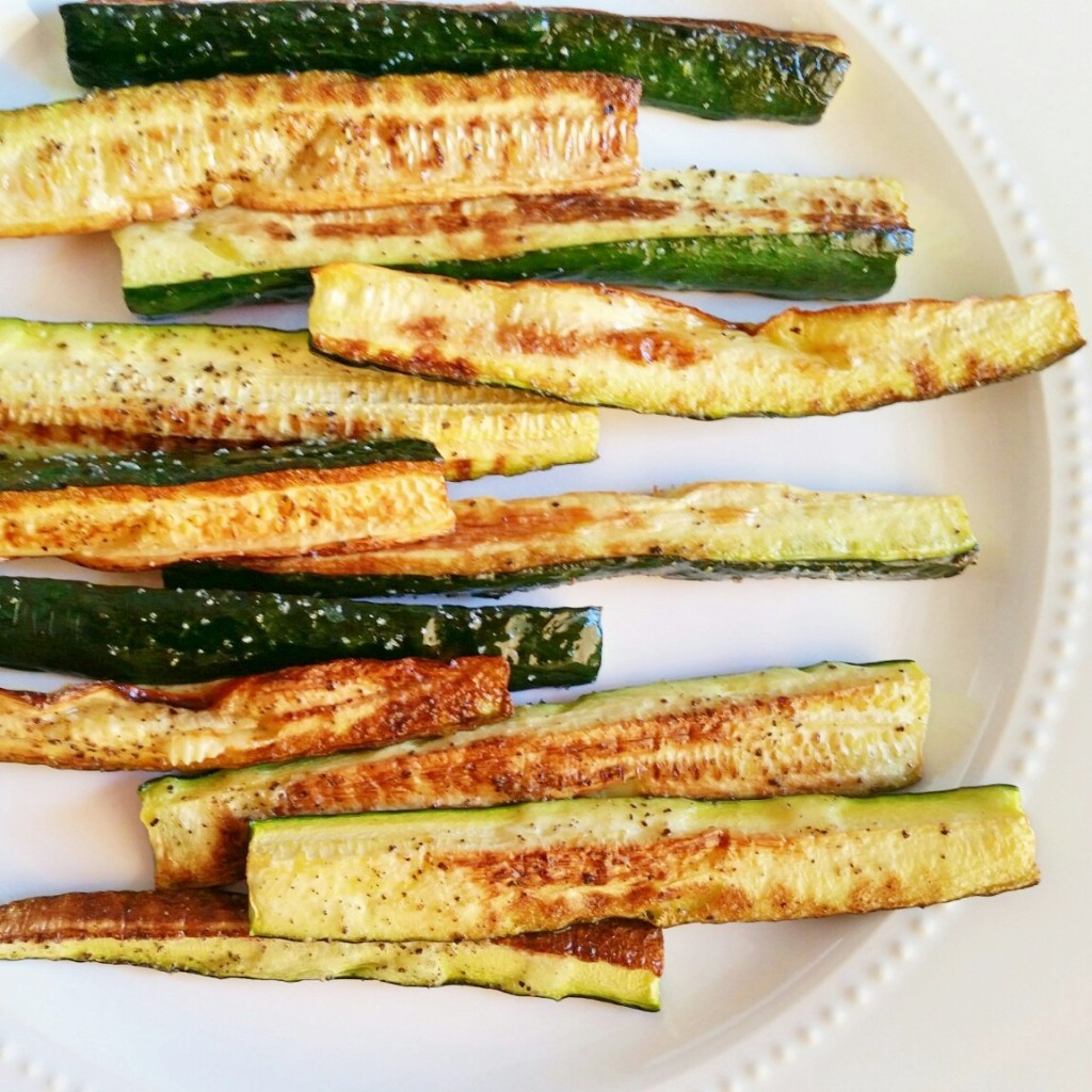 roasted zucchini sticks - clovers & kale