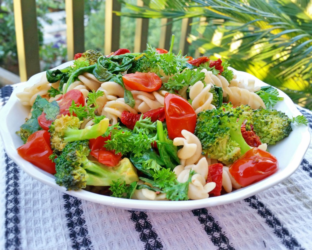 Vegetable Fusilli - Gluten Free - Clovers & Kale - Summer Recipe