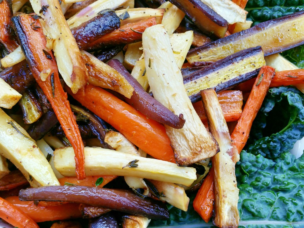 Herb Roasted Parsnips & Carrots - Clovers & Kale