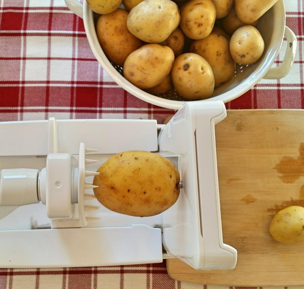 Paderno 4 Blade Spiralizer - Clovers & Kale - Spiralized Gold Potatoes