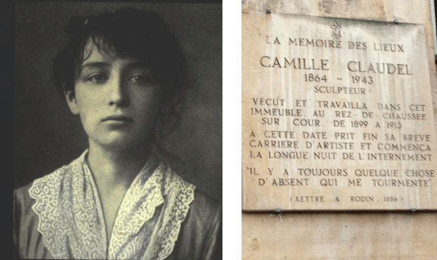 """One of many illustrious residents of the island; Camille Claudel. The talented sculptress, protégé and lover of Auguste Rodin, lived and worked at 19 Quai de Bourbon until insanity forced her to live out her last 30 years, as the plaque above says, """"In the long night of internment"""" in an insane asylum."""