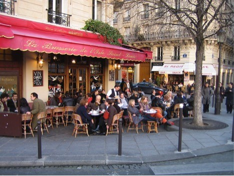 The Brasserie de l'Isle Saint-Louis; a sunny terrace in summer and the perfect rainy day refuge in winter. . . . The setting for my first lunch and last dinner on every trip to Paris.