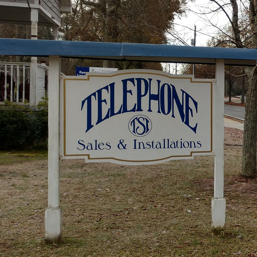 Telephone Sales & Installation Sign