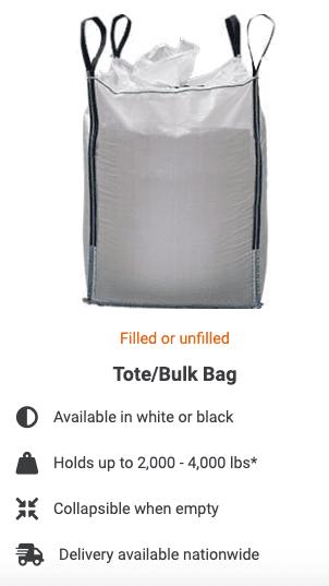 """""""Tote/Bulk"""