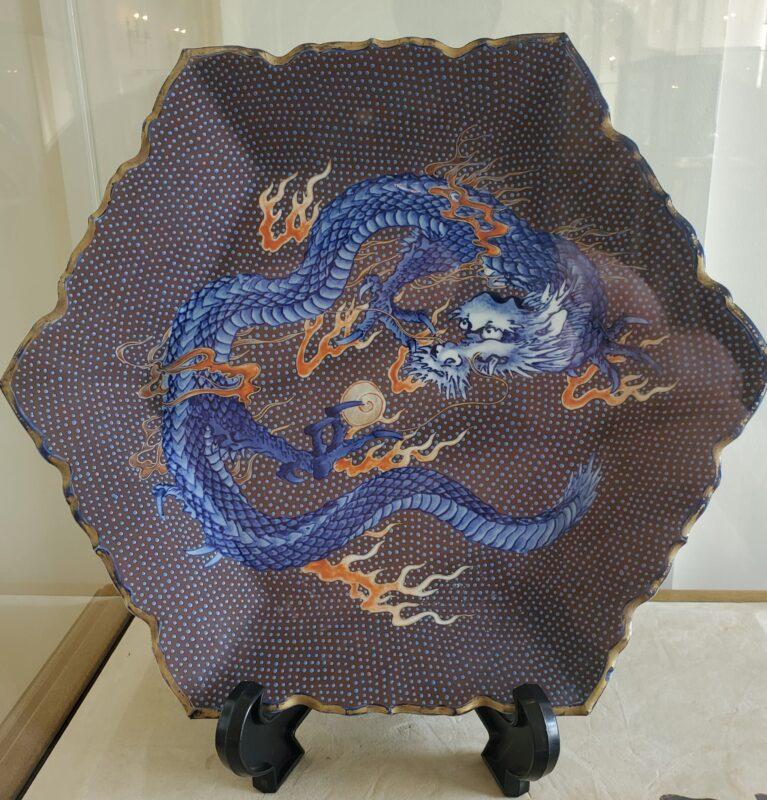 «Дракон на коричневом фоне» (褐地龍), эпоха Мэйдзи
