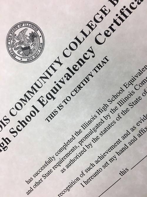 High School Equivalency certificate