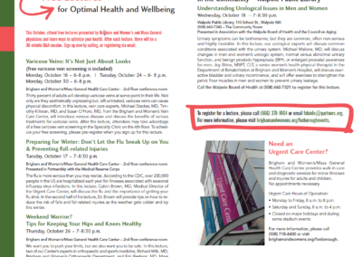 Lectures for Optimal Health