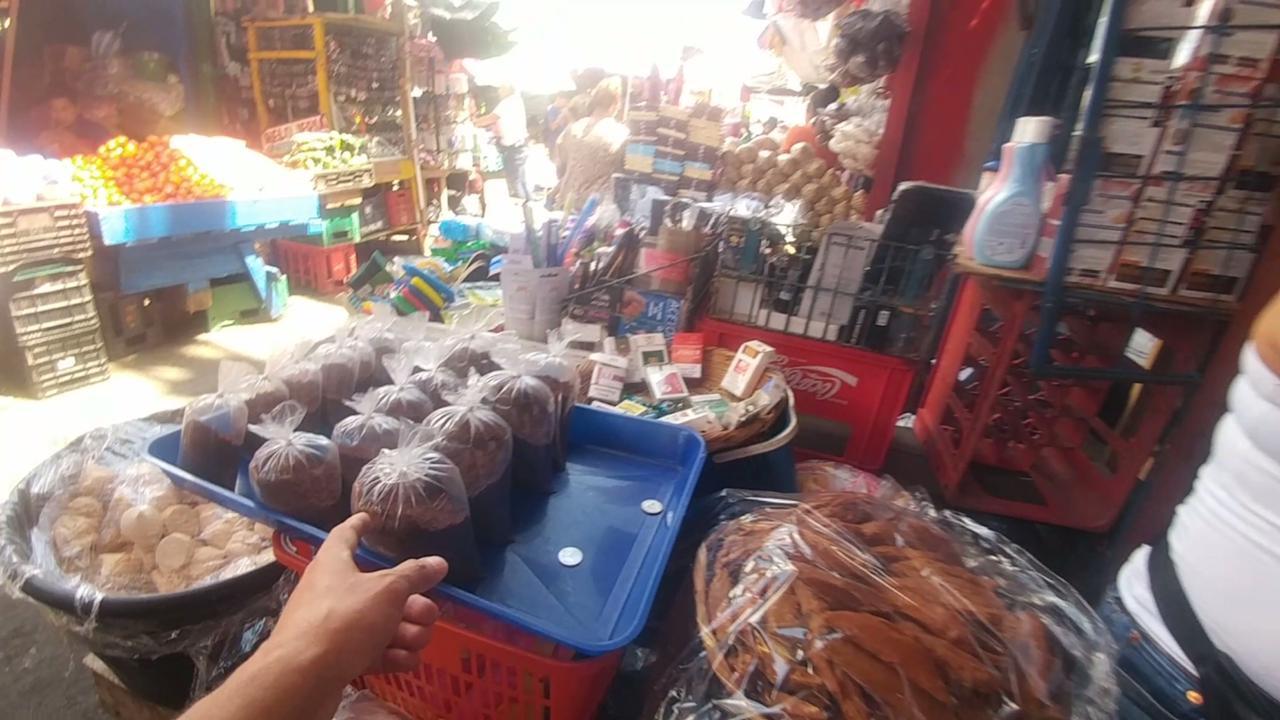 Los tramos del Mercado Oriental en Managua