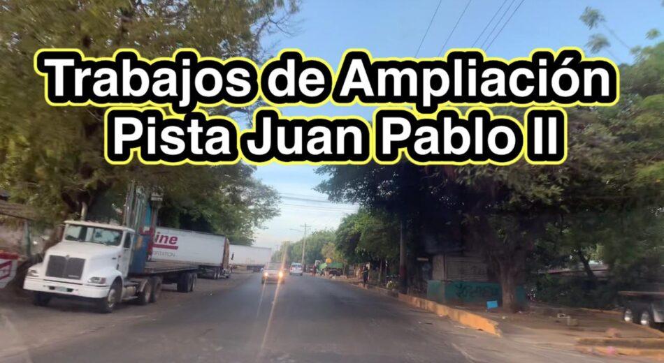 Inician trabajos de ampliación Pista Juan Pablo II en Managua