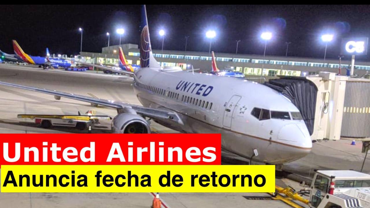 United Airlines anuncia retorno a Nicaragua