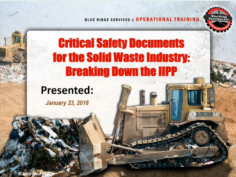 Critical Safety Documents for the Solid Waste Industry: Breaking Down the IIPP