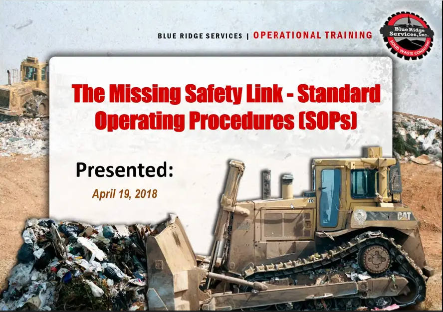 The Missing Safety Link – Standard Operating Procedures (SOPs)