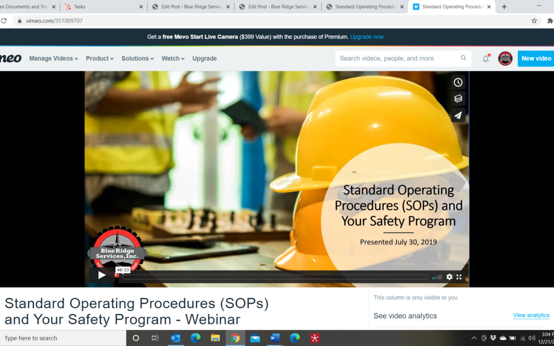 Standard Operating Procedures (SOPs) and Your Safety Program