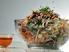 Ensalada china con germinado de soya