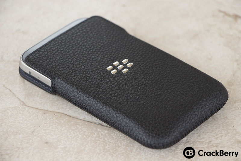 BlackBerry-Classic-In-Leather-Pouch-Left
