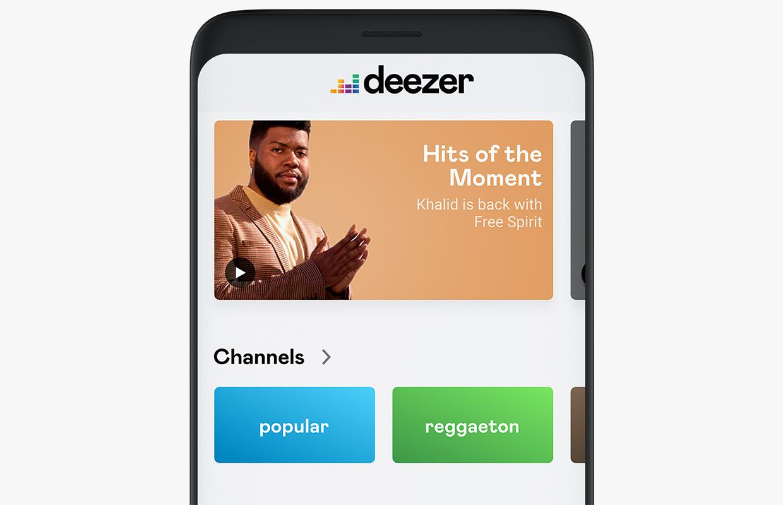 deezer new interface design