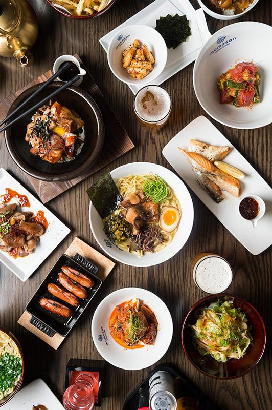 Table of various Momosan food