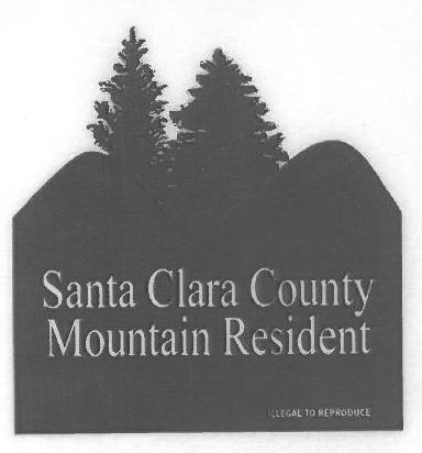 Mountain Resident sticker